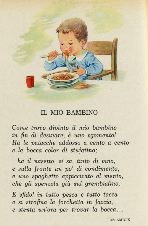 Extrêmement Il bimbo a tavola - I testi della tradizione di Filastrocche.it SW91