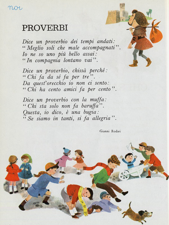 Preferenza Proverbi, filastrocca di Gianni Rodari - Filastrocche.it RE86