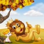 Il leone e il topo riconoscente