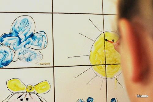 Coloriamo le piastrelle con esperienzacreativa i testi della tradizione di - Piastrelle disegnate ...