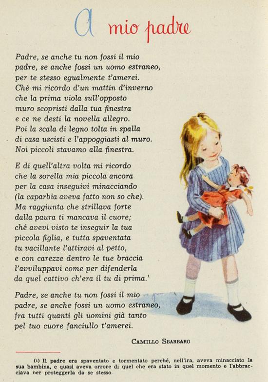 Preferenza A mio padre, poesia di Camillo Sbarbaro - Filastrocche.it GA09