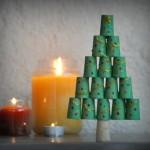 L'albero di Natale con i tappi di sughero