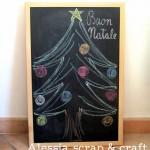 L'albero di Natale fatto con i gessetti glitterati per #esperienzacreativa