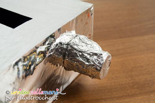 Maschera da robot come si fa carnevale su for Come costruire i passaggi della scatola