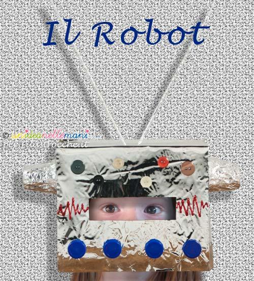 maschera da robot