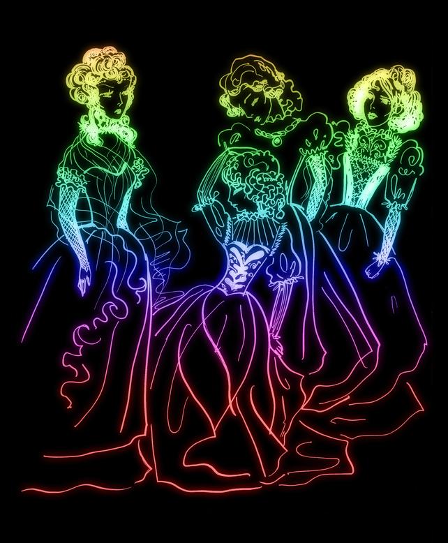 tre principesse nere