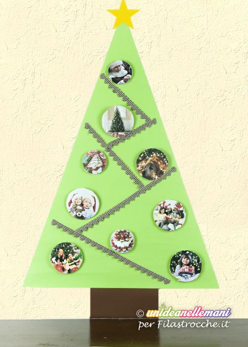 Albero di natale da parete fai da te i testi della - Decorazioni di carta per albero di natale ...