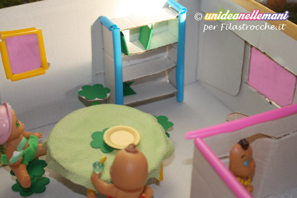 Castello di cartone fai da te : Come fare una casa delle bambole fai da te in miniatura