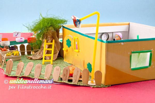 Come fare una casa delle bambole fai da te in miniatura for Disegnando una casa suggerimenti
