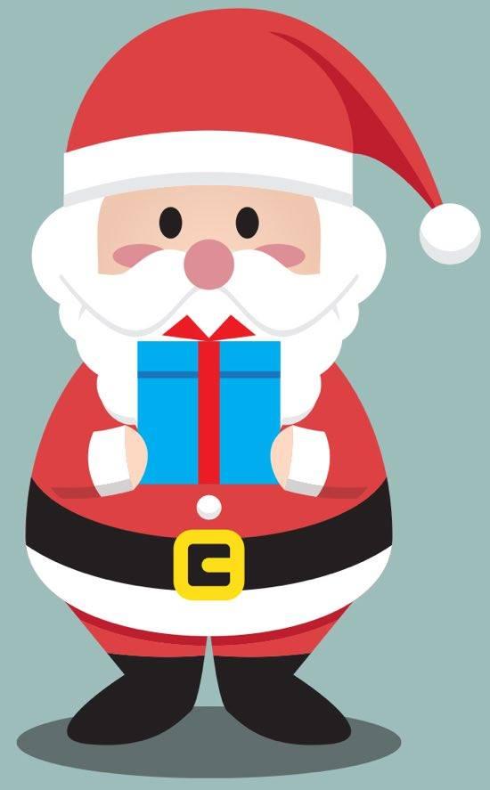 Babbo Natale di tutti i colori