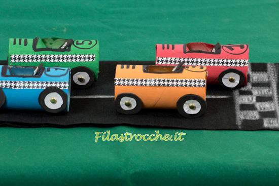 automobiline di cartone