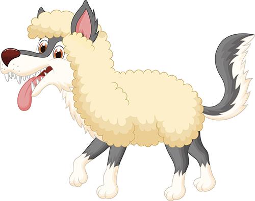 La pecorella e il lupo i testi della tradizione di