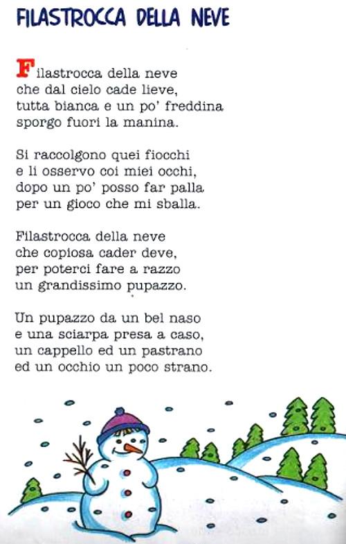 Super Filastrocca della neve - I testi di Michele Schiavone in  GA67