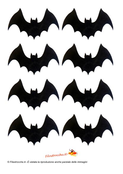 decorazione di halloween - sagome dei pipistrelli - stampa ... - Decorazioni Per Finestre Halloween