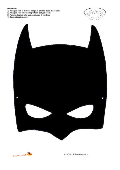 Travestimenti supereroi maschera batman stampa for Maschera di flash da colorare