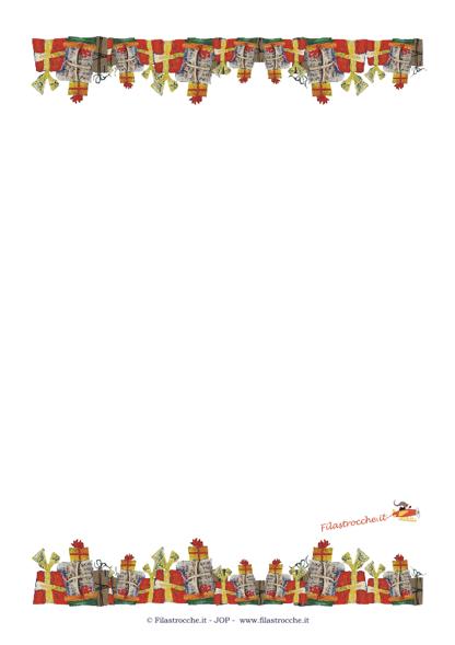 Idea Regalo per Natale - Cornice vuota con i regali di Natale - Stampa
