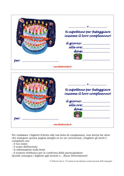 Fabuleux Invito Festa di Compleanno - Per due festeggiati - Stampa, disegna  SO32