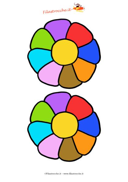 Decorazione festa della mamma fiori medi arcobaleno - Arcobaleno a colori e stampa ...