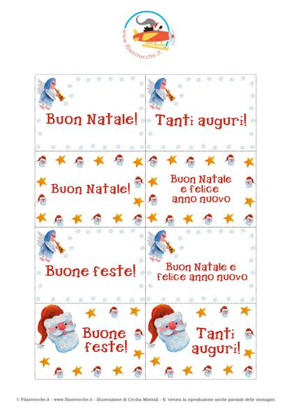 Amato Cose utili - Etichette per i Regali di Natale, Babbo Natale e  NE61