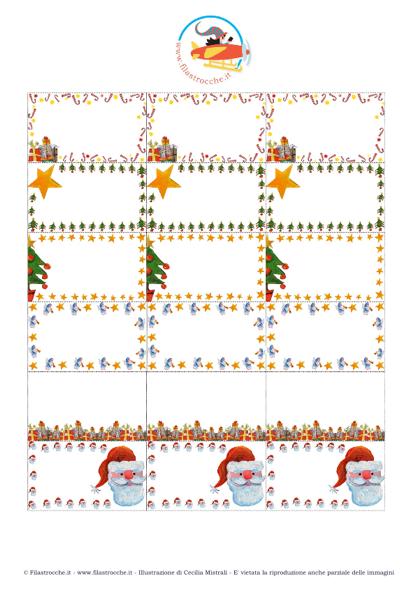 Preferenza Cose utili - Etichette piccole per i Regali di Natale - Stampa  BR24