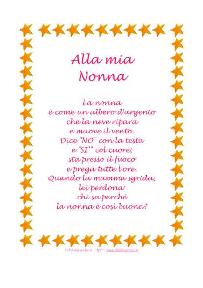 """Top Idea Regalo - Poesia in Cornice, Stelline - """"Alla mia Nonna  AM63"""