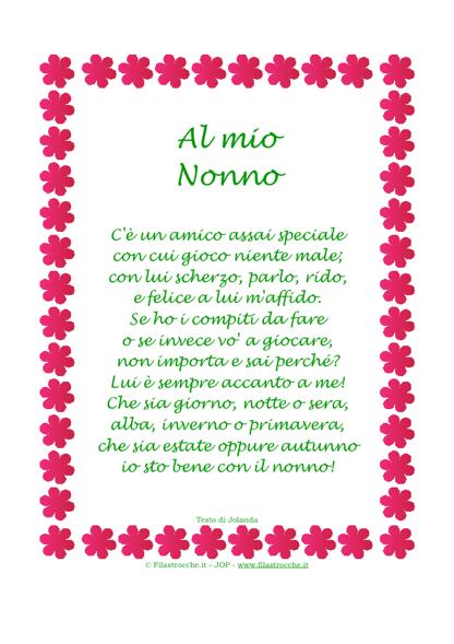 """Extrêmement Idea Regalo - Poesia in Cornice, Fiorellini, """"Al mio Nonno  OJ86"""