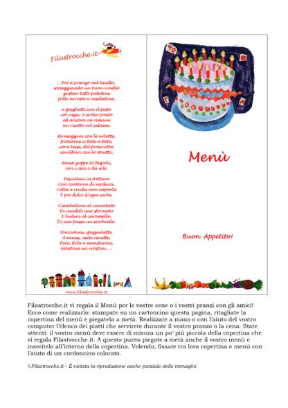 Super Cose utili - Menù, Torta di Compleanno - Stampa, disegna e crea  UC49