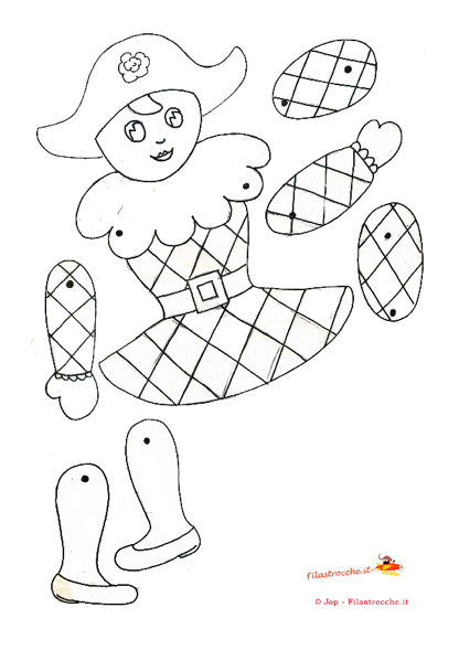 arlecchino colouring pages