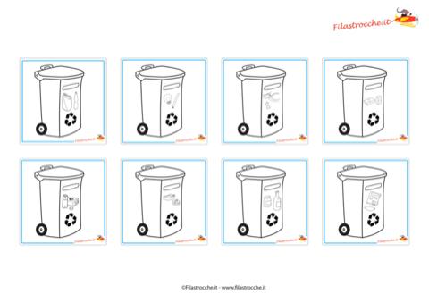 Speciale ecologia gioco memory dei rifiuti da colorare for Memory da stampare
