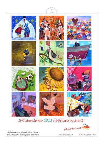 Stefania pravato , ecco la copertina del calendario 2013 illustrato