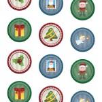 Adesivi di Natale: pagina 3 – 5 cm