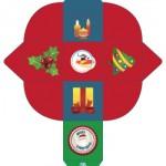 Scatoletta di Natale: con albero di Natale e agrifoglio