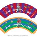 Portacupcake per la Festa del Papà: Tanti Auguri!