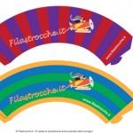 Portacupcake fai da te con logo di Filastrocche.it