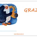 Biglietto di Ringraziamento generico – Pinguino