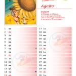 Calendario 2015 con note – Agosto