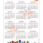 Calendario 2015 Tradizionale – Annuale in una pagina