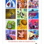 Calendario 2016 Illustrato: 12 mesi