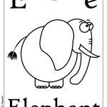 ABC book: Abbecedario inglese: Lettera E da colorare