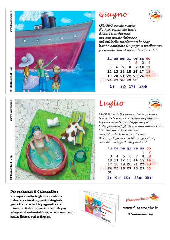 Calendalibro 2017 - Giugno e Luglio
