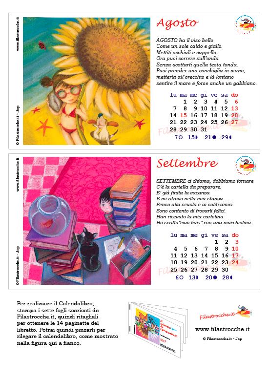 Calendalibro 2017 - Agosto e Settembre