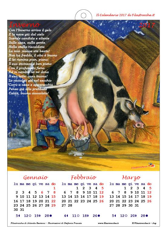 Calendario 2017 Stagionale - Inverno, Seconda versione