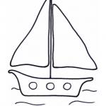 Disegno da colorare – Barca a vela