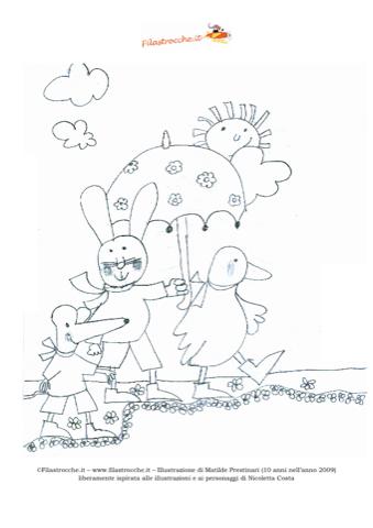 Disegno da colorare - Giulio Coniglio - Disegna e colora