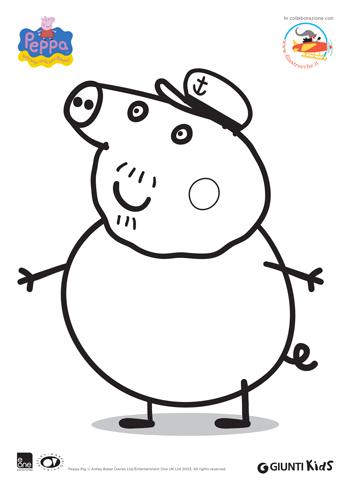 Peppa pig disegni da colorare nonno pig for Immagini peppa pig da colorare