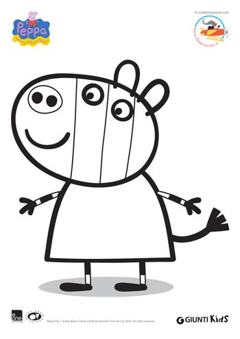 Peppa pig disegni da colorare zoe zebra for Immagini peppa pig da colorare