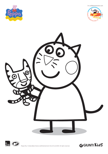 To delete this peppa pig das mini colouring pages image for Peppa pig da stampare