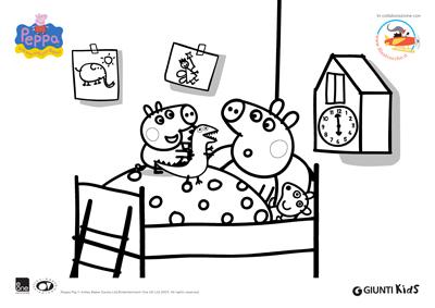 Peppa pig disegni da colorare peppa pig a nanna for Maschere di peppa pig da colorare