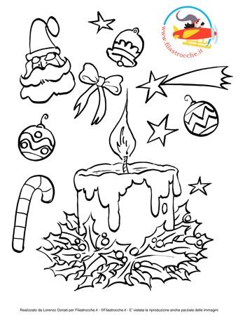 disegni da colorare decorazioni natalizie