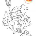Disegni da colorare: pupazzo di neve